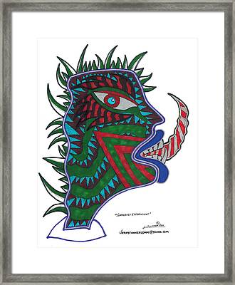 Surrealist Experiment Framed Print by Jerry Conner