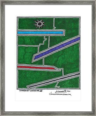 Surrealist Landscape 3 Framed Print by Jerry Conner