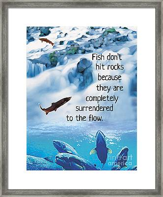 Surrender To The Flow Framed Print