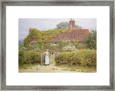 Surrey Cottage Framed Print by Helen Allingham