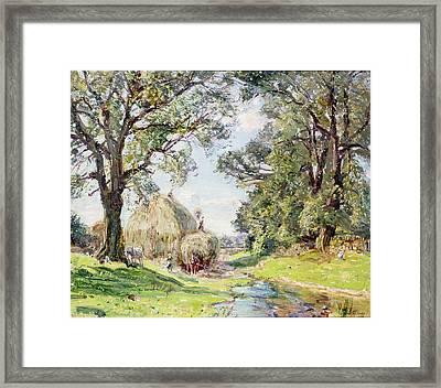 Surrey Landscape  Framed Print by Edmund George Warren