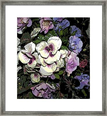 Framed Print featuring the photograph Surrounding Pansies by Pamela Hyde Wilson