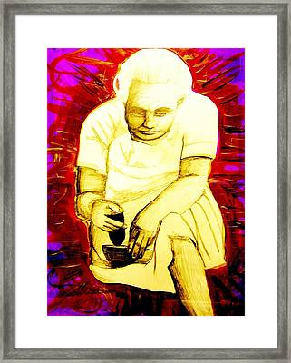 Framed Print featuring the mixed media Suruhana by Michelle Dallocchio