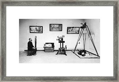 Surveillance Equipment, 19th Century Framed Print