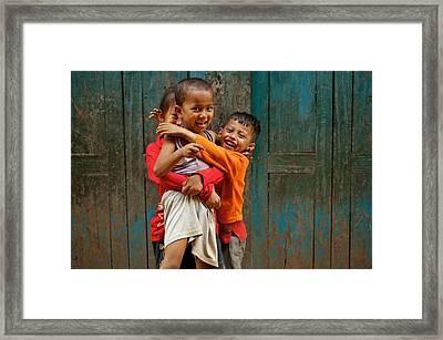 Survival Of The Fittest Framed Print by Valerie Rosen