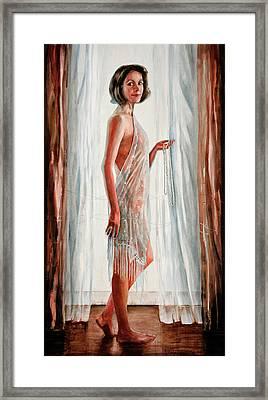 Survivor Self-portrait Framed Print by Carolyn Coffey Wallace