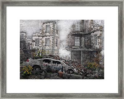 Survivors Between Ruins Framed Print