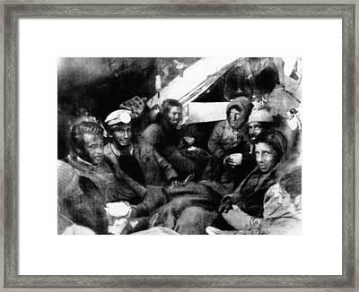 Survivors Of The Uruguayan Plane Crash Framed Print by Everett