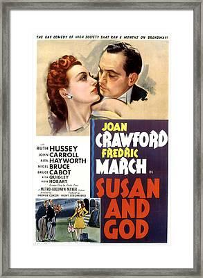 Susan And God, Joan Crawford, Fredric Framed Print
