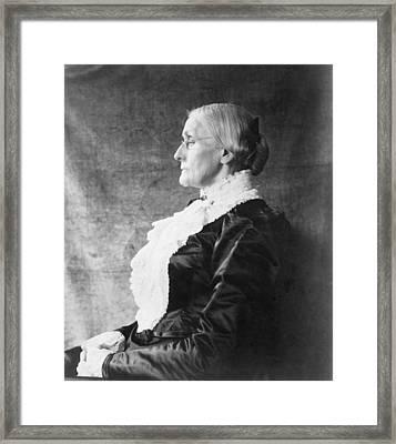 Susan B. Anthony 1820-1906, Ca. 1890 Framed Print