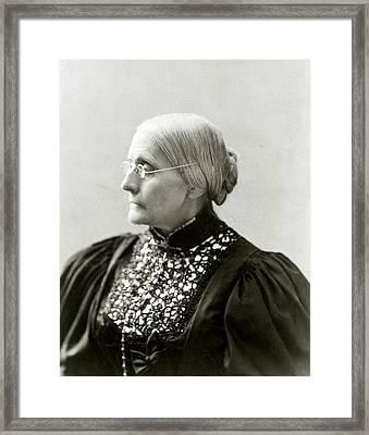 Susan B. Anthony 1820-1906, In 1890s Framed Print