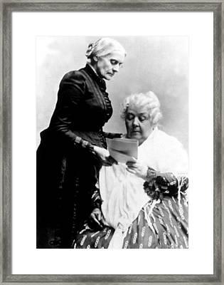 Susan B. Anthony & Elizabeth Cady Framed Print