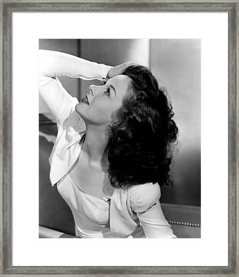 Susan Hayward, 1941 Framed Print by Everett