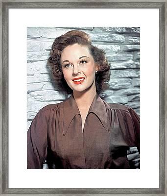 Susan Hayward, 1950s Framed Print by Everett