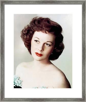 Susan Hayward, Ca. 1950s Framed Print by Everett