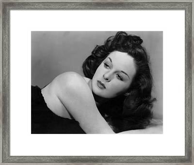 Susan Hayward, Portrait, Circa 1942 Framed Print by Everett