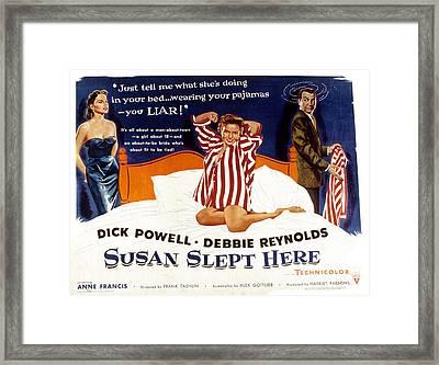 Susan Slept Here, Anne Francis, Debbie Framed Print
