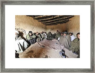 Suspected Taliban Detainees Held Framed Print