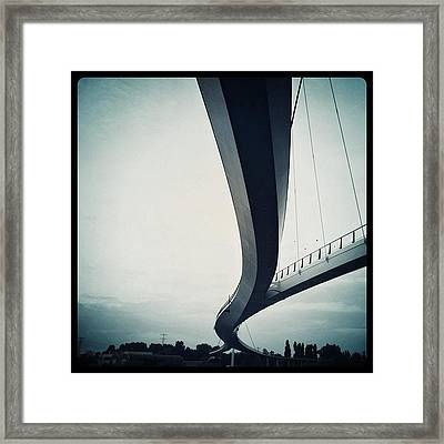 Suspended #bridge For Cylists And Framed Print