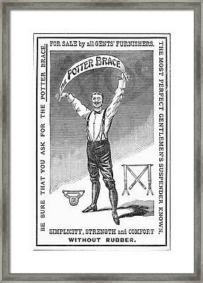 Suspenders, 1888 Framed Print