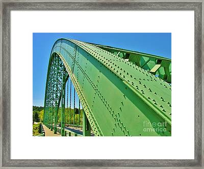 Framed Print featuring the photograph Suspension Bridge by Sherman Perry