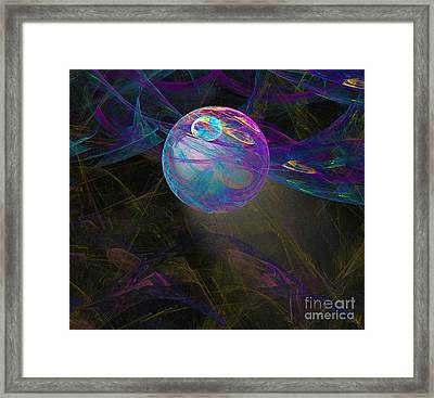Framed Print featuring the digital art Suspension by Victoria Harrington