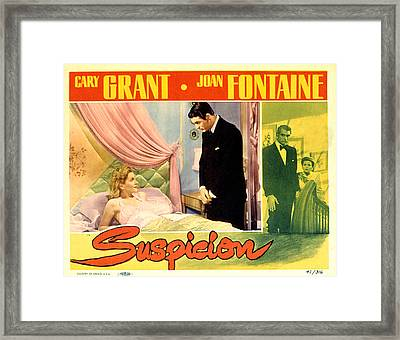 Suspicion, Joan Fontaine, Cary Grant Framed Print