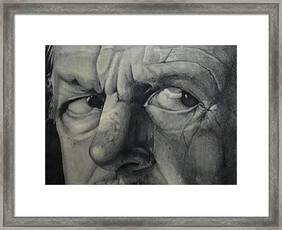 Suspicion Framed Print