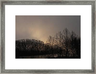 Susquehanna River Sunrise Framed Print