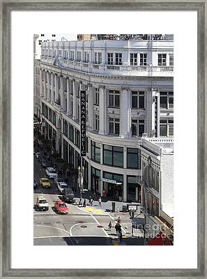 Sutter Street East View Framed Print by Wingsdomain Art and Photography