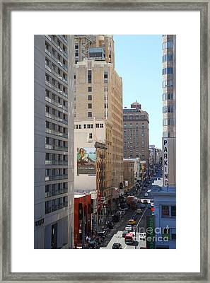 Sutter Street West View Framed Print by Wingsdomain Art and Photography