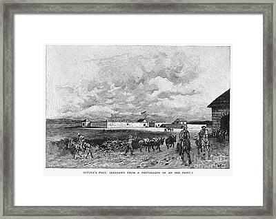 Sutters Fort, 19th Century Framed Print by Granger
