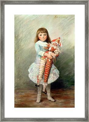 Suzanne Framed Print by Pierre Auguste Renoir