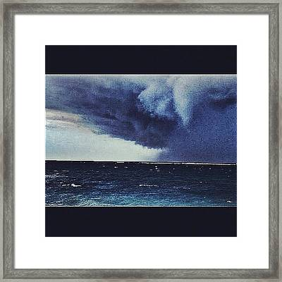 #svcstorms #hurrican #ike Is On Its Way Framed Print by Andy Lee