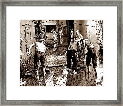Swabbing The Deck Framed Print