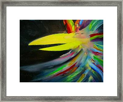 Swaggering Framed Print by Asida Cheng
