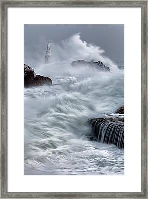 Swallowed By The Sea Framed Print by Evgeni Dinev