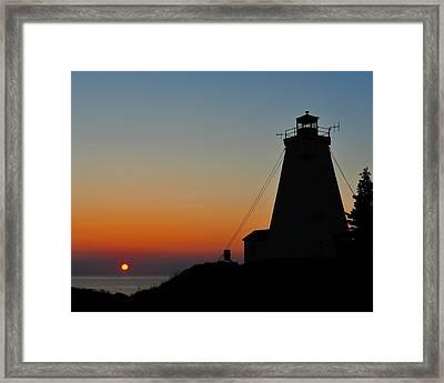 Swallowtail Sunrise - Grand Manan Framed Print by Tony Beck