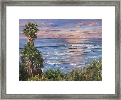 Swamis Sunset Framed Print by Lisa Reinhardt
