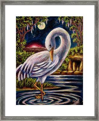 Swamp Crane Framed Print