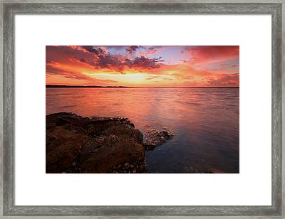 Swan Bay Sunset 2 Framed Print