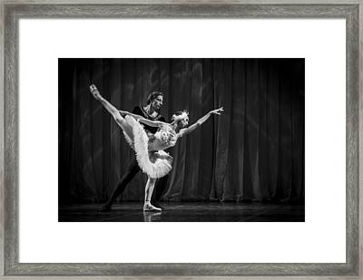 Swan Lake  White Adagio  Russia 3 Framed Print by Clare Bambers