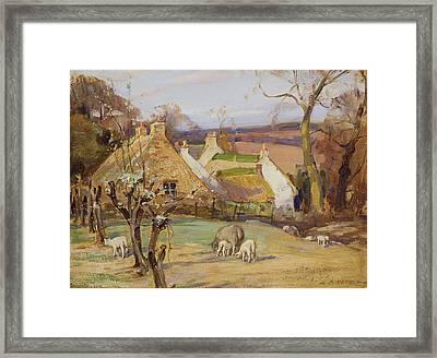 Swanston Farm Framed Print by Robert Hope