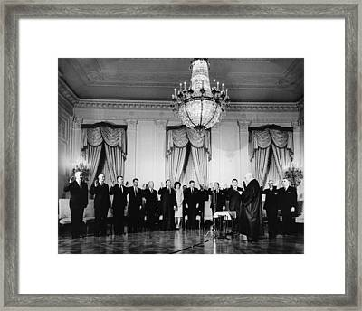 Swearing-in Ceremony Of President Framed Print
