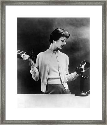Sweater Set Of The 1950s. The 1955 Framed Print by Everett