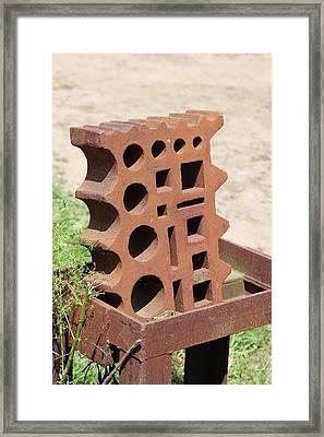 Swedge Block  Framed Print