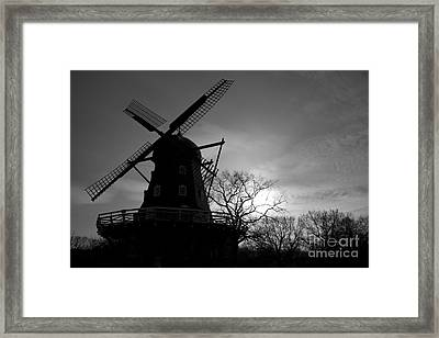 Swedish Windmill Framed Print by Mike  Connolly