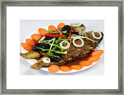 Sweet And Sour Fish Chinese Food Framed Print by Paul Ge