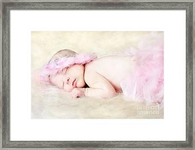 Sweet Baby Girl Framed Print by Darren Fisher