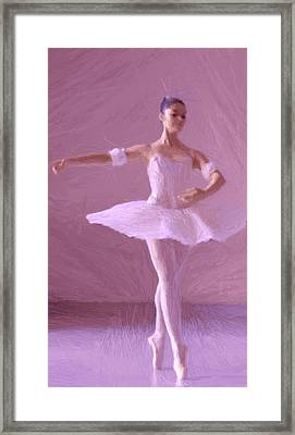 Sweet Ballerina Framed Print by Steve K